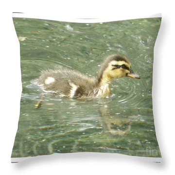 The New Addition Throw Pillow by Sara  Raber