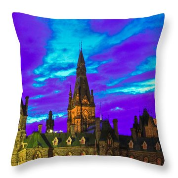 The Night Of The Thousand Spells Throw Pillow by Eti Reid