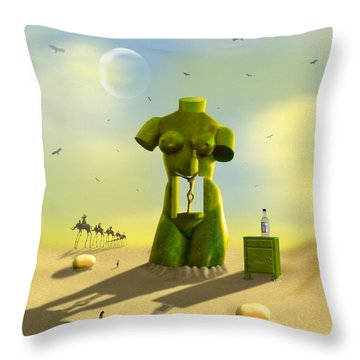 The Nightstand Throw Pillow by Mike McGlothlen