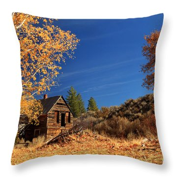 The Old Bunkhouse Landscape Throw Pillow by James Eddy
