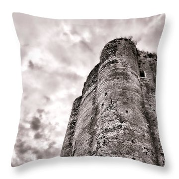 The Old Dungeon Throw Pillow by Olivier Le Queinec