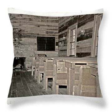 The Old Schoolhouse Throw Pillow by Susan Leggett