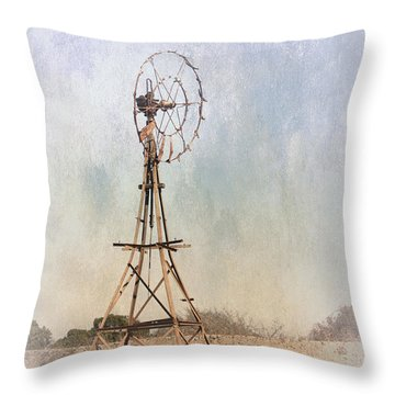 The Old Windmill Throw Pillow by Elaine Teague