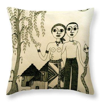 The Original Sin Throw Pillow by Madalena Lobao-Tello
