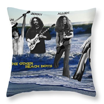 The Other Beach Boys Throw Pillow by Ben Upham