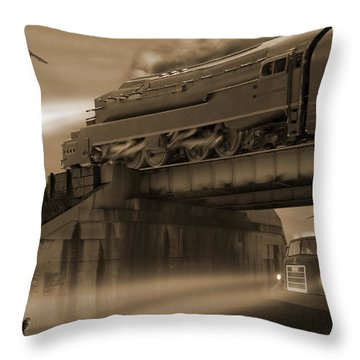 The Overpass 2 Throw Pillow by Mike McGlothlen