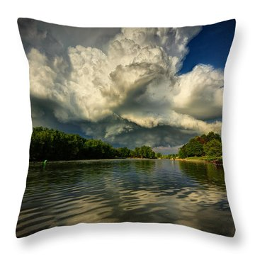 The Passing Storm Throw Pillow by Everet Regal