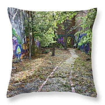 The Path Of Graffiti Throw Pillow by Jason Politte