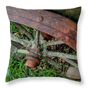 The Patina Of Time Throw Pillow by Rene Triay Photography
