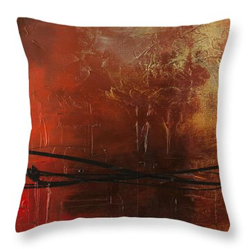 The Pause Throw Pillow by Carmen Guedez