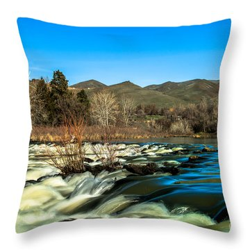 The Payette River Throw Pillow by Robert Bales