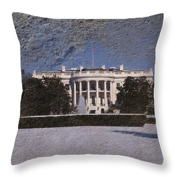The Peoples House Throw Pillow by Skip Willits
