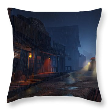 The Phantom 309 Throw Pillow by Kristina Vardazaryan