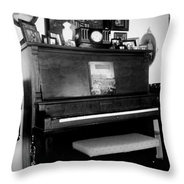 The Piano And Clarinet  Throw Pillow by Peggy Leyva Conley