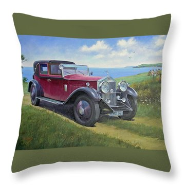 The Picnic Throw Pillow by Mike  Jeffries