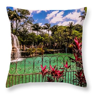 The Place To Relax Throw Pillow by Zina Stromberg