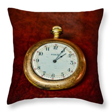 The Pocket Watch Throw Pillow by Paul Ward