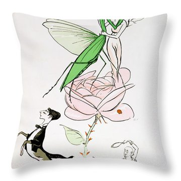 The Poets Corner Throw Pillow by Sem