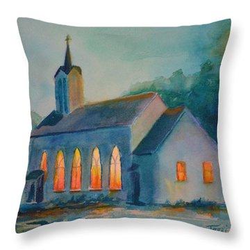 The Prayer Meeting Throw Pillow by Terri Cowart
