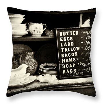 The Price List Throw Pillow by Paul W Faust -  Impressions of Light