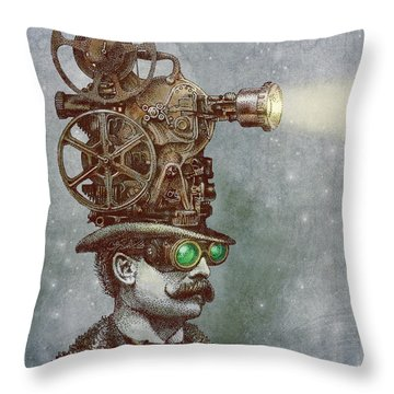 The Projectionist Throw Pillow by Eric Fan