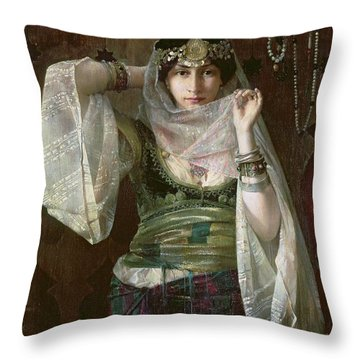 The Queen Of The Harem Throw Pillow by Max Ferdinand Bredt