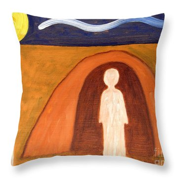 The Raising Of Lazarus Throw Pillow by Patrick J Murphy