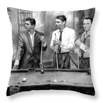 The Rat Pack Throw Pillow by Viola El