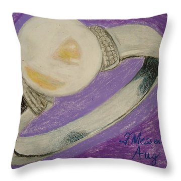 The Ring Throw Pillow by Fladelita Messerli-