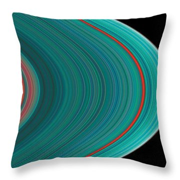 The Rings Of Saturn Throw Pillow by Anonymous