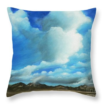 The Rockies Throw Pillow by Susi Galloway