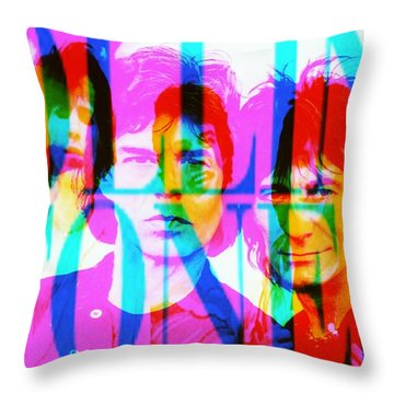 The Rolling Stones Throw Pillow by Elizabeth McTaggart