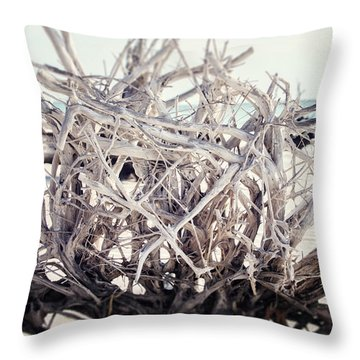 The Roots Throw Pillow by Lisa Russo