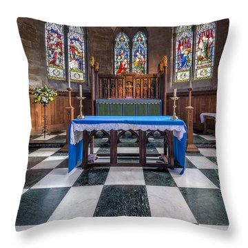 The Sanctuary Throw Pillow by Adrian Evans