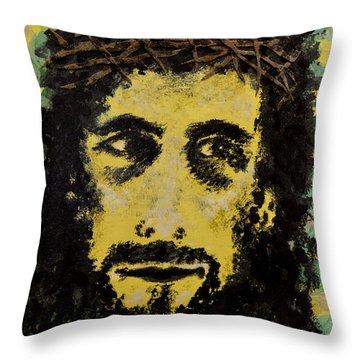 The Savior Throw Pillow by Alys Caviness-Gober