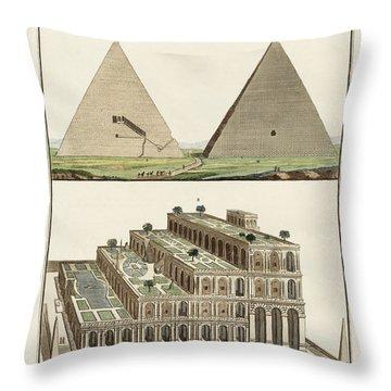 The Seven Wonders Of The World Throw Pillow by Splendid Art Prints