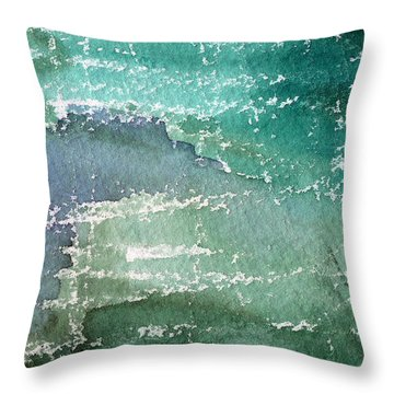 The Shallow End Throw Pillow by Linda Woods