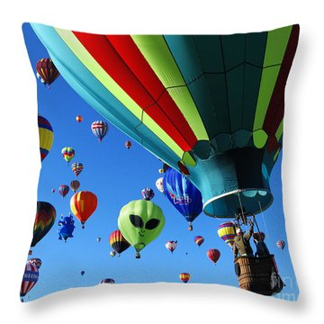 The Sky Is Full Throw Pillow by Vivian Christopher