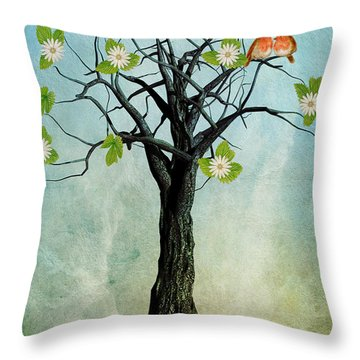 The Song Of Spring Throw Pillow by John Edwards