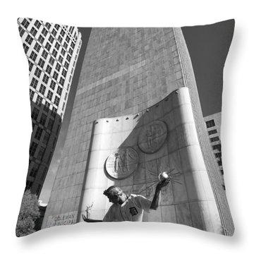 The Spirit Of Detroit Tigers 3 Throw Pillow by Gordon Dean II