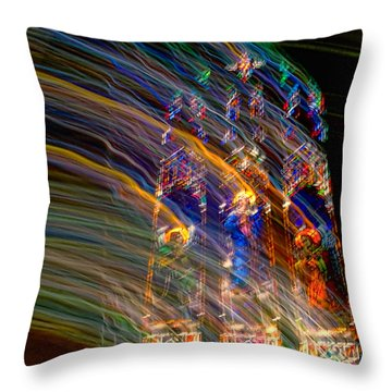 The Spirit Of The Saints Throw Pillow by Kathleen K Parker