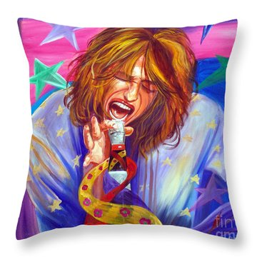 The Star Is Born Throw Pillow by To-Tam Gerwe