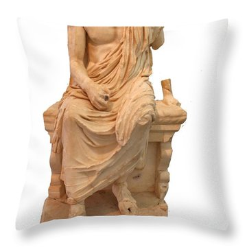 The Statue Of The Unidentified Philosopher Throw Pillow by Tracey Harrington-Simpson