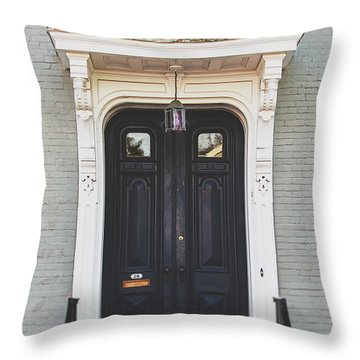 The Stockade Door In Schenectady New York Throw Pillow by Lisa Russo