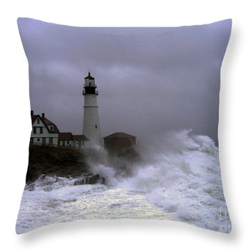 The Storm Throw Pillow by Lloyd Alexander