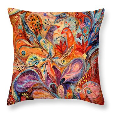 The Story Of Wild Iris Throw Pillow by Elena Kotliarker