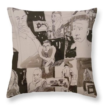 The Struggle For Independence Throw Pillow by Esther Newman-Cohen