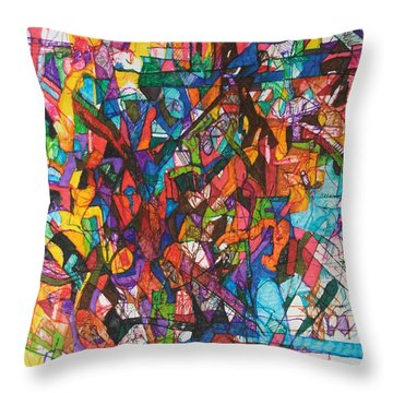 The Subject In Entirety 1 Throw Pillow by David Baruch Wolk