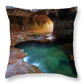The Subway Sacred Light Throw Pillow by Bob Christopher