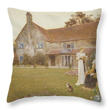 The Sundial Throw Pillow by Thomas James Lloyd